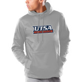 Under Armour Grey Armour Fleece Hoodie-UTSA Roadrunners Stacked