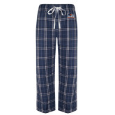 Navy/White Flannel Pajama Pant-Primary Logo