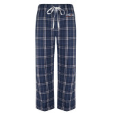 Navy/White Flannel Pajama Pant-UTSA Roadrunners w/ Head Flat