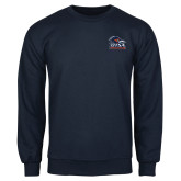 Navy Fleece Crew-Primary Logo