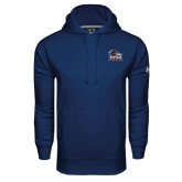 Under Armour Navy Performance Sweats Team Hood-Primary Logo