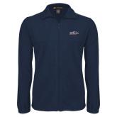 Fleece Full Zip Navy Jacket-UTSA Roadrunners w/ Head Flat