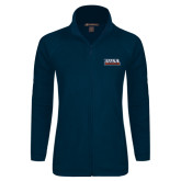 Ladies Fleece Full Zip Navy Jacket-UTSA Roadrunners Stacked
