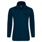 Ladies Fleece Full Zip Navy Jacket-Roadrunner Head Tone