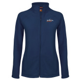 Ladies Fleece Full Zip Navy Jacket-UTSA Roadrunners w/ Head Flat