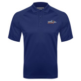 Navy Textured Saddle Shoulder Polo-UTSA Roadrunners w/ Head Flat