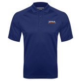 Navy Textured Saddle Shoulder Polo-UTSA Roadrunners Stacked