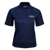 Ladies Navy Textured Saddle Shoulder Polo-UTSA Roadrunners Stacked