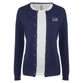 Ladies Navy Cardigan-Primary Logo