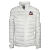 Columbia Mighty LITE Ladies White Jacket-Primary Logo