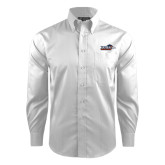 Red House White Dobby Long Sleeve Shirt-UTSA Roadrunners w/ Head Flat