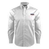 Red House White Dobby Non Iron Long Sleeve Shirt-UTSA Roadrunners Stacked