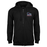 Black Fleece Full Zip Hood-Primary Logo