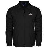 Full Zip Black Wind Jacket-UTSA Roadrunners w/ Head Flat