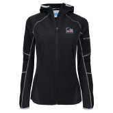 Columbia Ladies Sweet As Black Hooded Jacket-Primary Logo