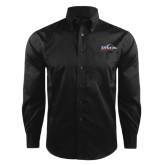Red House Black Herringbone Non Iron Long Sleeve Shirt-UTSA Roadrunners w/ Head Flat