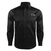 Red House Black Herringbone Long Sleeve Shirt-Roadrunner Head