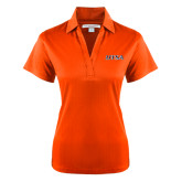 Ladies Orange Performance Fine Jacquard Polo-UTSA