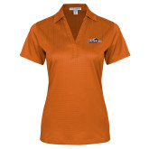 Ladies Orange Performance Fine Jacquard Polo-UTSA Roadrunners w/ Head Flat