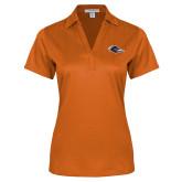 Ladies Orange Performance Fine Jacquard Polo-Roadrunner Head