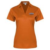 Ladies Orange Performance Fine Jacquard Polo-UTSA Roadrunners Stacked