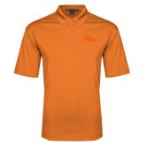 Orange Performance Fine Jacquard Polo-Roadrunner Head Tone