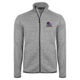 Grey Heather Fleece Jacket-Primary Logo