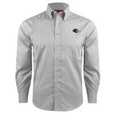 Red House Grey Plaid Long Sleeve Shirt-Roadrunner Head