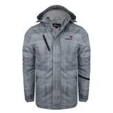 Grey Brushstroke Print Insulated Jacket-UTSA Roadrunners w/ Head Flat