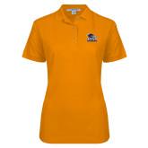 Ladies Easycare Orange Pique Polo-Primary Logo