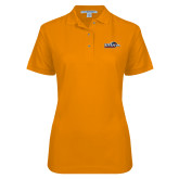 Ladies Easycare Orange Pique Polo-UTSA Roadrunners w/ Head Flat