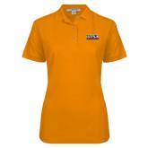 Ladies Easycare Orange Pique Polo-UTSA Roadrunners Stacked