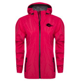 Ladies Dark Fuchsia Waterproof Jacket-Roadrunner Head Tone