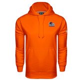 Under Armour Orange Performance Sweats Team Hood-Primary Logo