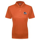 Ladies Orange Dry Mesh Polo-Primary Logo
