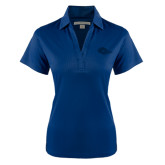 Ladies Navy Performance Fine Jacquard Polo-Roadrunner Head Tone