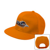 Orange Flat Bill Snapback Hat-UTSA Roadrunners w/ Head Flat