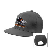 Charcoal Flat Bill Snapback Hat-Primary Logo
