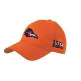 Orange Heavyweight Twill Pro Style Hat-Roadrunner Puff w/UTSA Roadrunners/Side