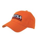 Orange Heavyweight Twill Pro Style Hat-UTSA Roadrunners Puff