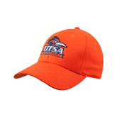 Orange Heavyweight Twill Pro Style Hat-UTSA Stacked Logo