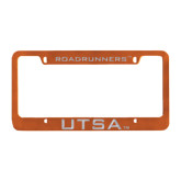 Metal Orange License Plate Frame-ROADRUNNERS