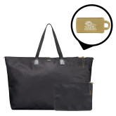 Tumi Just in Case Black Travel Duffel-Primary Logo Engraved