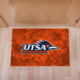 Full Color Indoor Floor Mat-UTSA Roadrunners w/ Head Flat