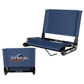 Stadium Chair Navy-UTSA Roadrunners w/ Head Flat