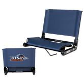 Stadium Chair Navy-UTSA Roadrunners w/ Head Flat