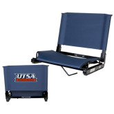 Stadium Chair Navy-UTSA Roadrunners Stacked