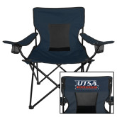 Deluxe Navy Captains Chair-UTSA Roadrunners Stacked