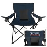 Deluxe Navy Captains Chair-UTSA Roadrunners Stacked