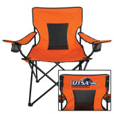 Deluxe Orange Captains Chair-UTSA Roadrunners w/ Head Flat